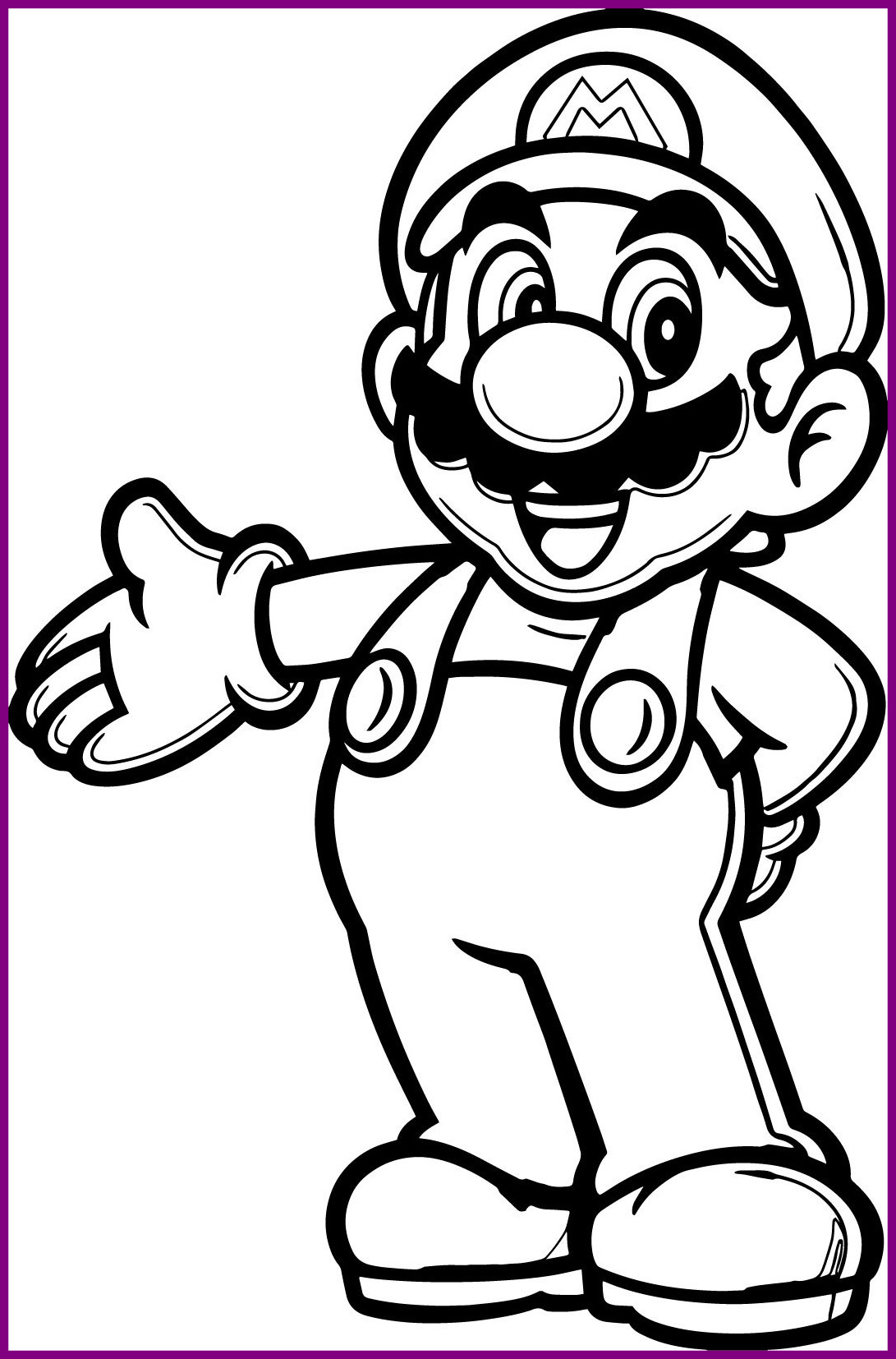 Cat Mario Coloring Pages At Getcolorings
