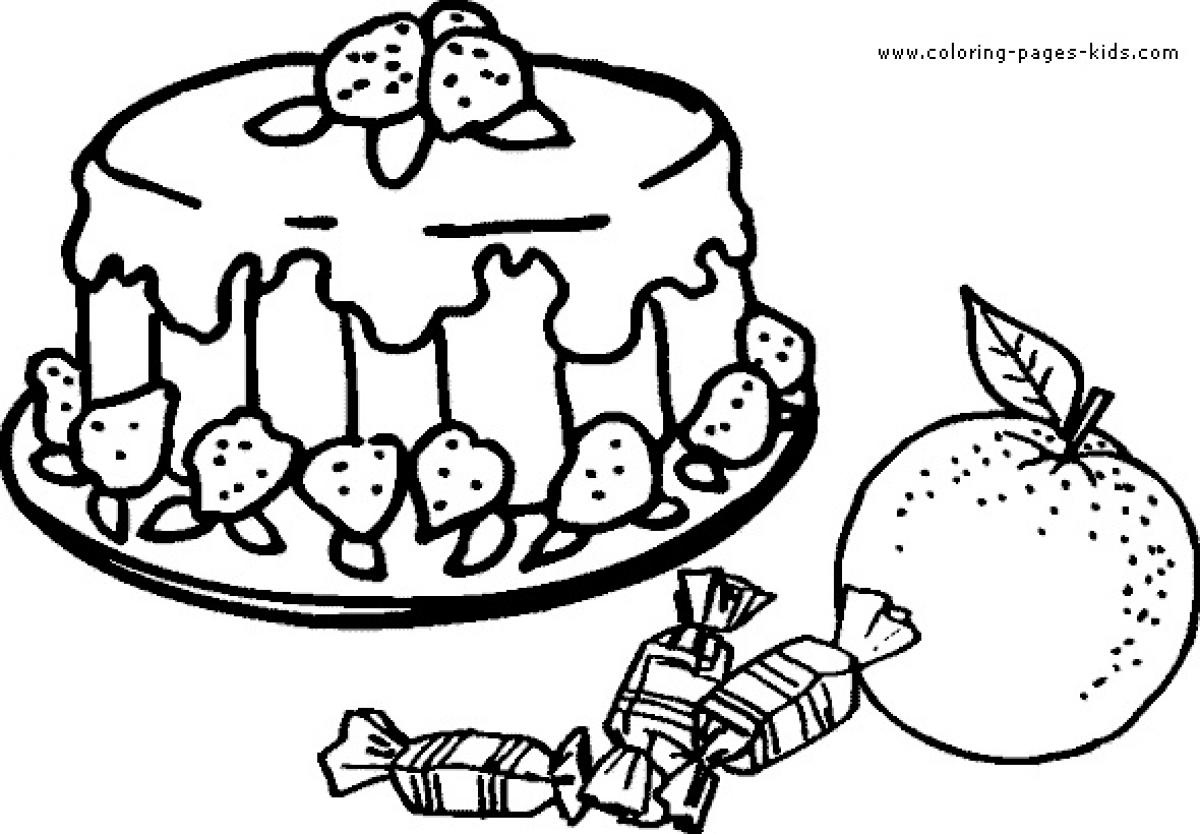 Cheesecake Coloring Pages At Getcolorings