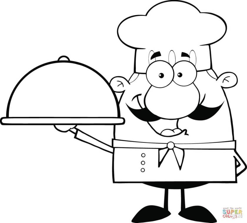 chef hat coloring page at getcolorings  free