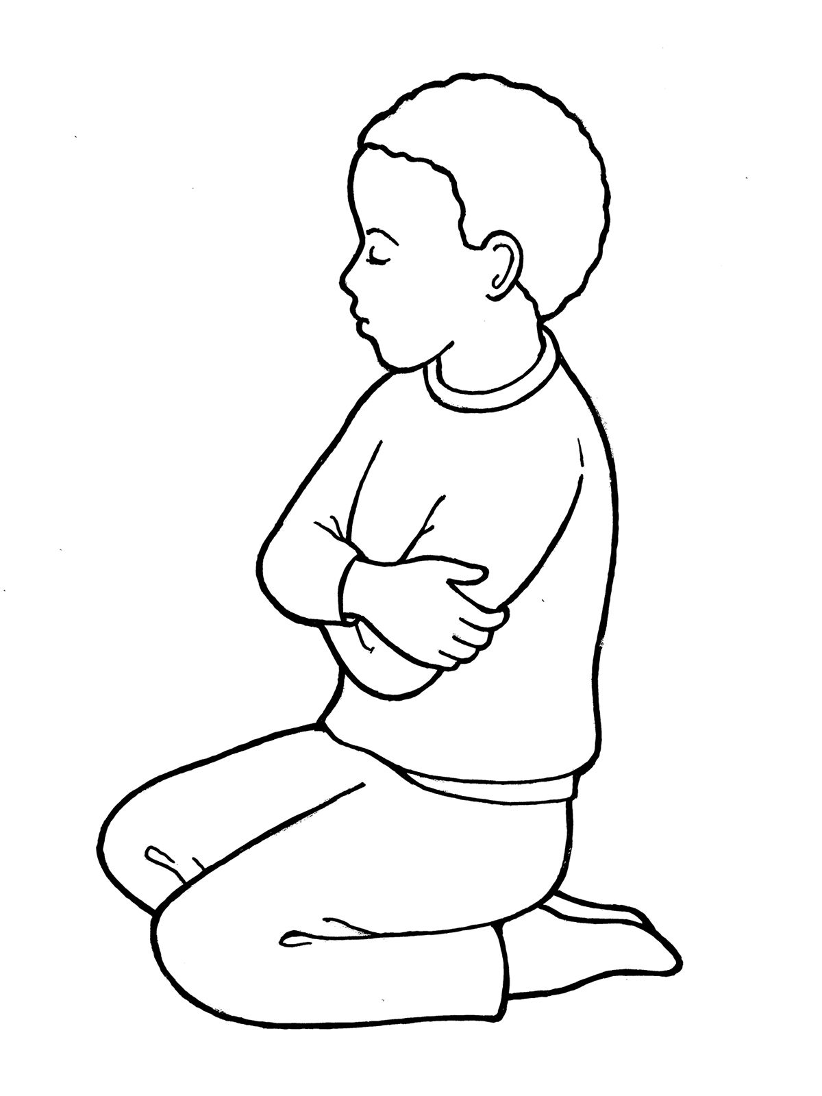Child Praying Coloring Page At Getcolorings