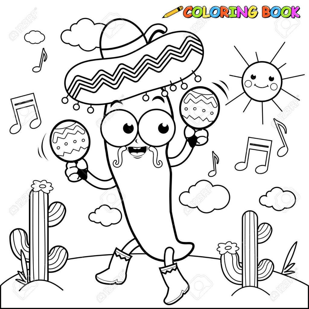 Chili Pepper Coloring Page At Getcolorings