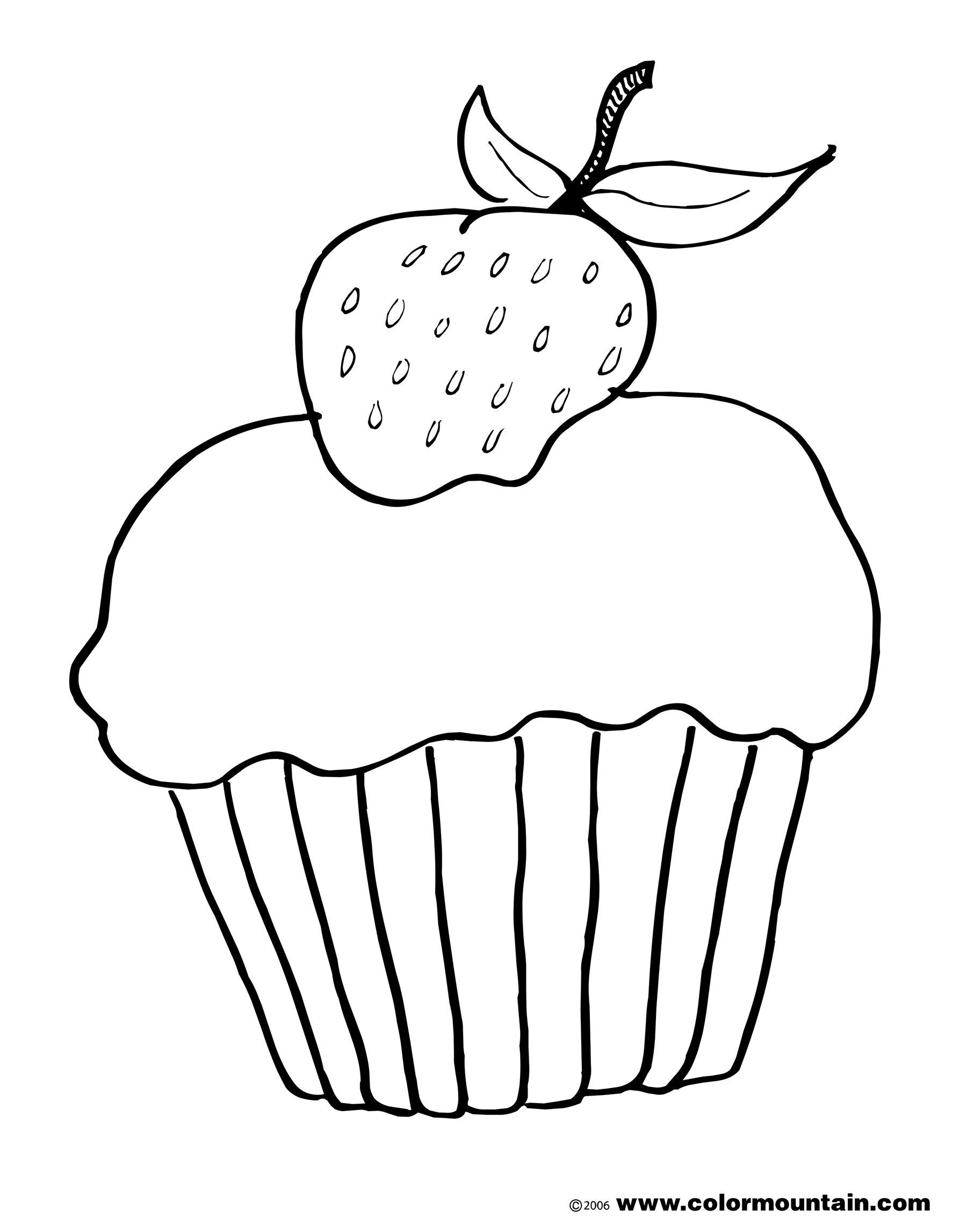 Chocolate Cake Coloring Page At Getcolorings