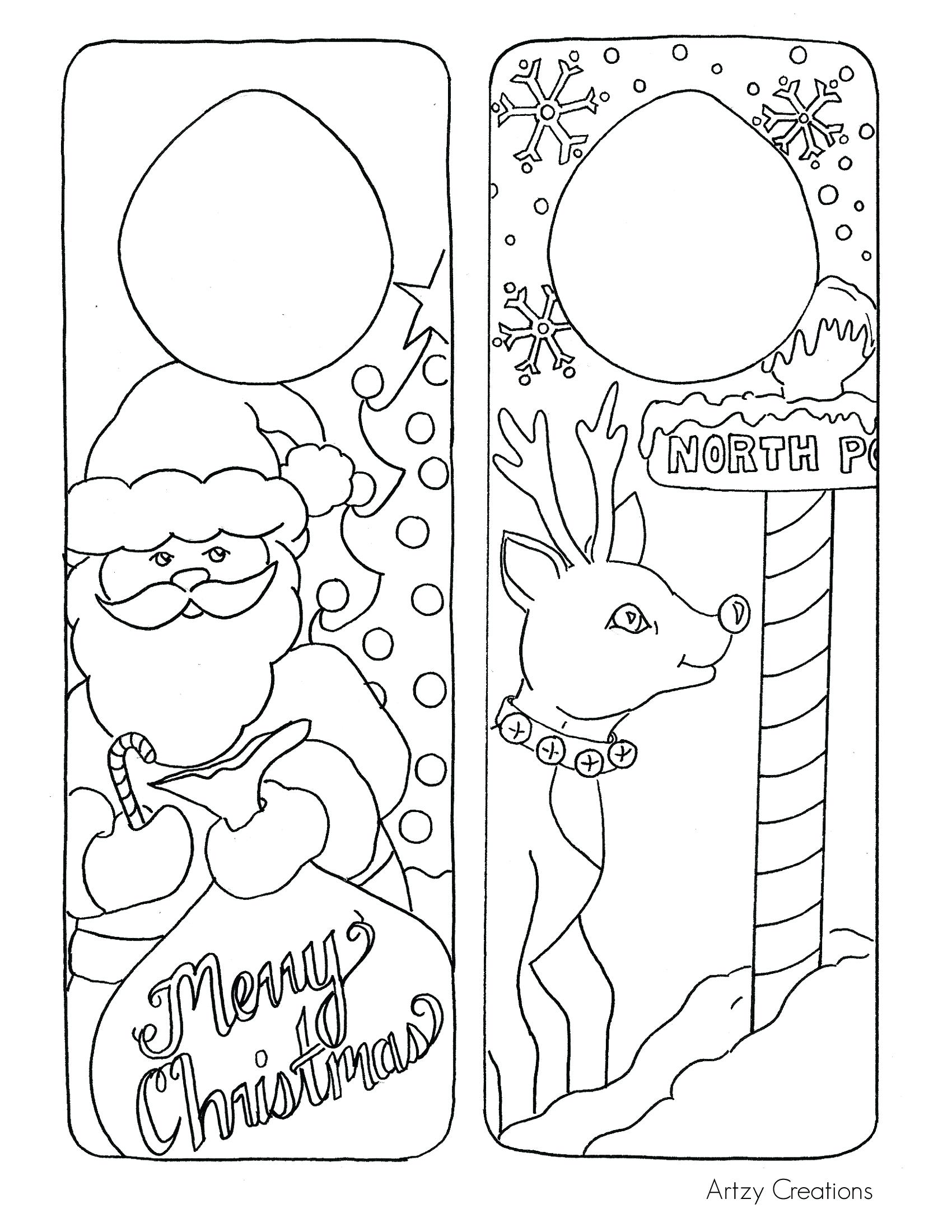 Christmas Card Coloring Pages At Getcolorings