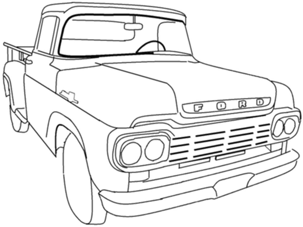 Classic Truck Coloring Pages At Getcolorings