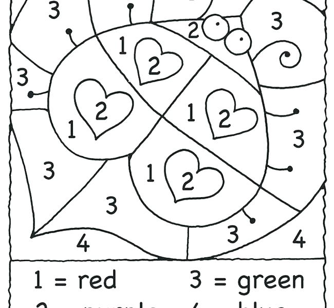 Color By Number Coloring Pages For Kindergarten at ... | number coloring pages for kindergarten