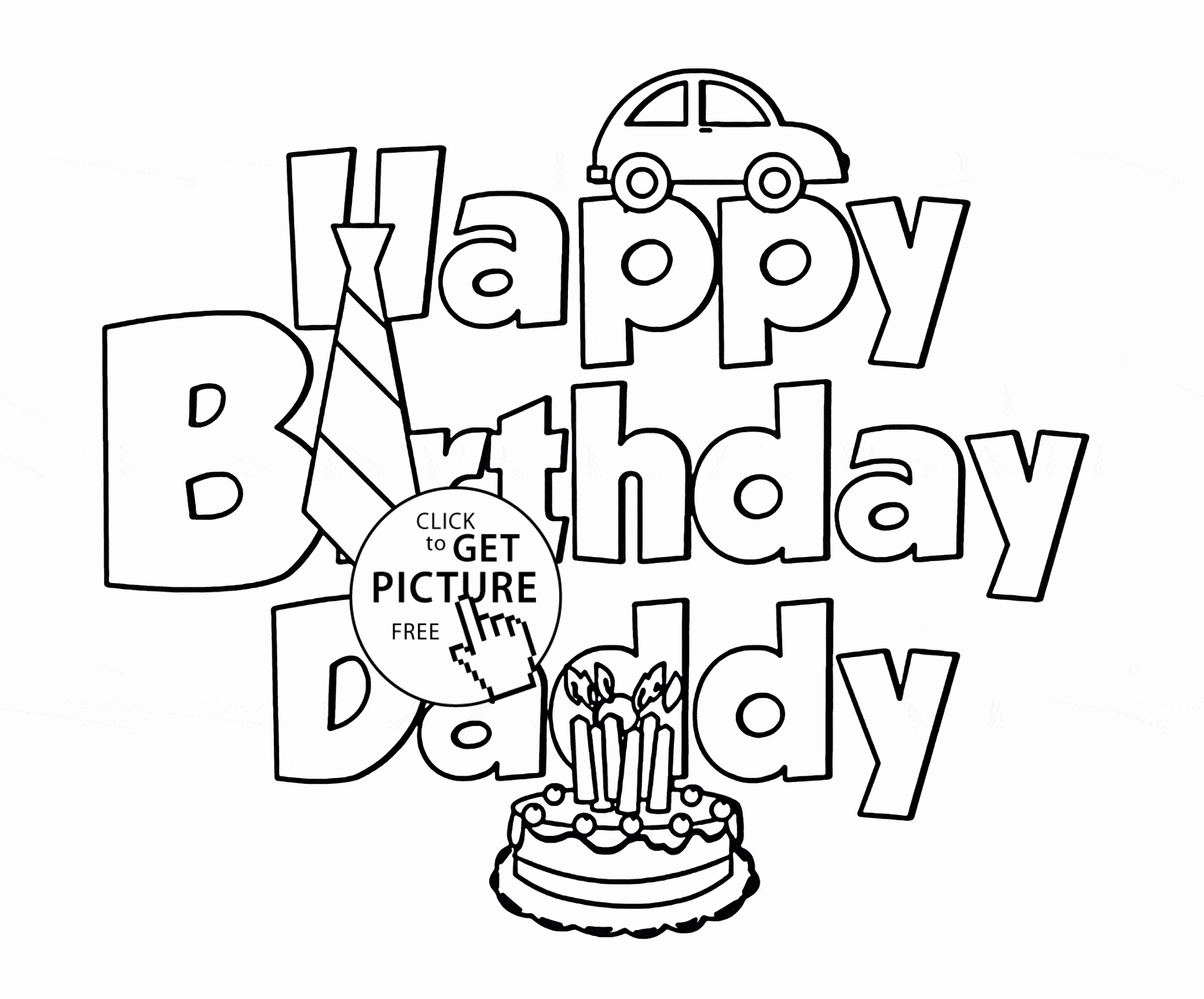 Coloring Pages For Dads Birthday At Getcolorings