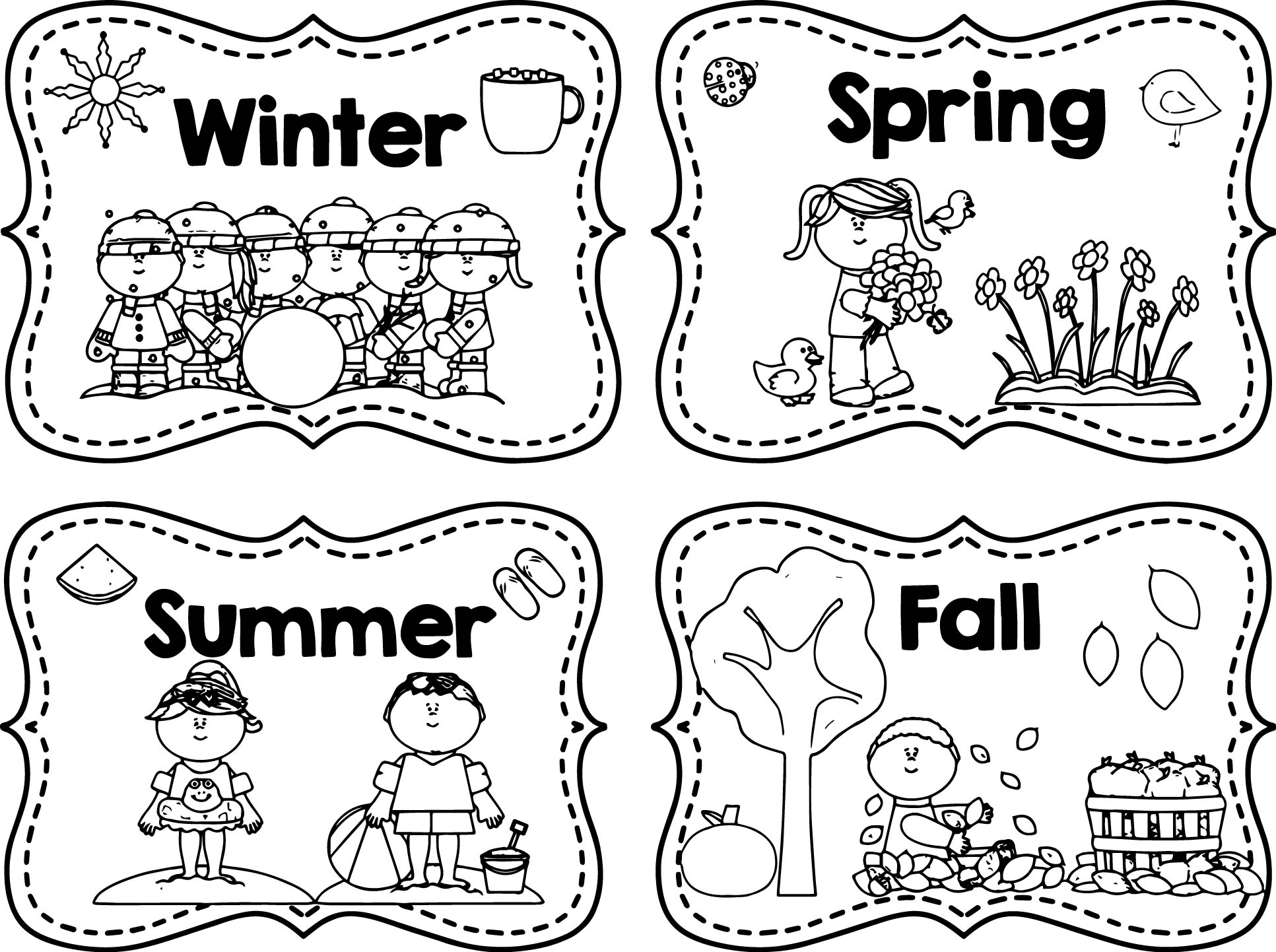 Coloring Pages Four Seasons At Getcolorings