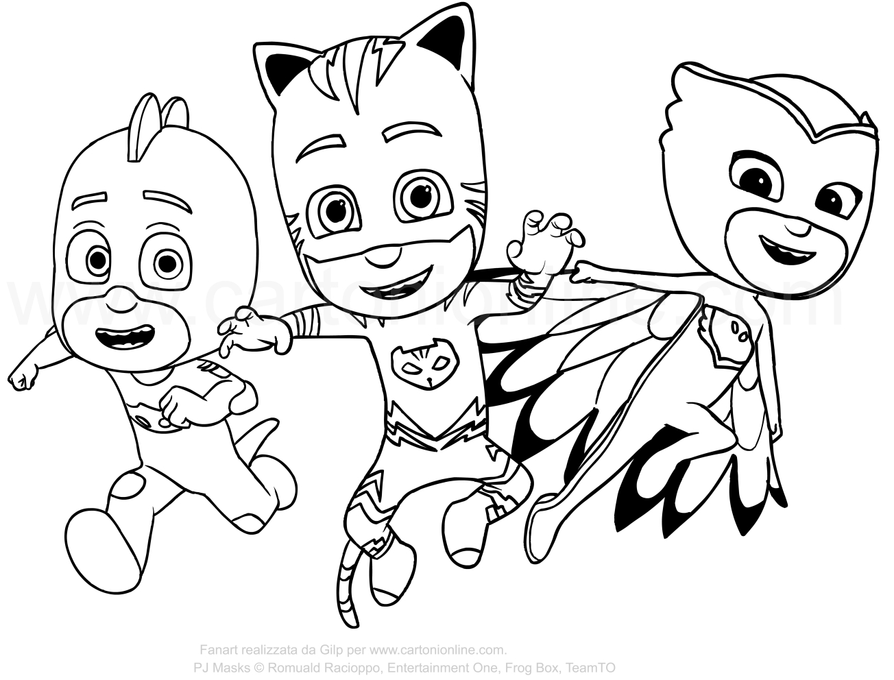 Coloring Pages Of Pj Masks At Getcolorings