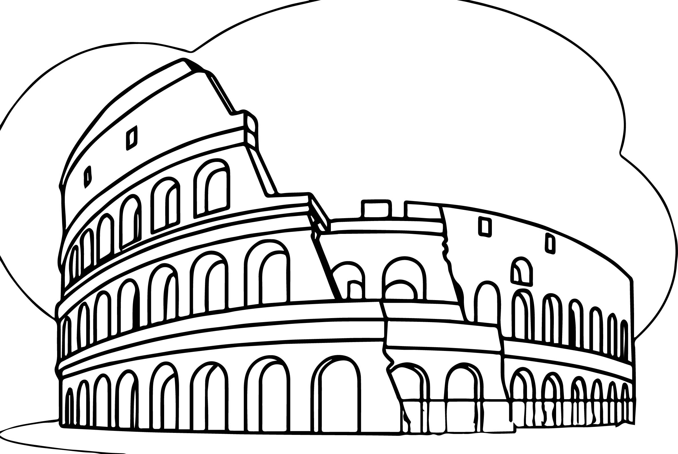 Colosseum Coloring Page At Getcolorings