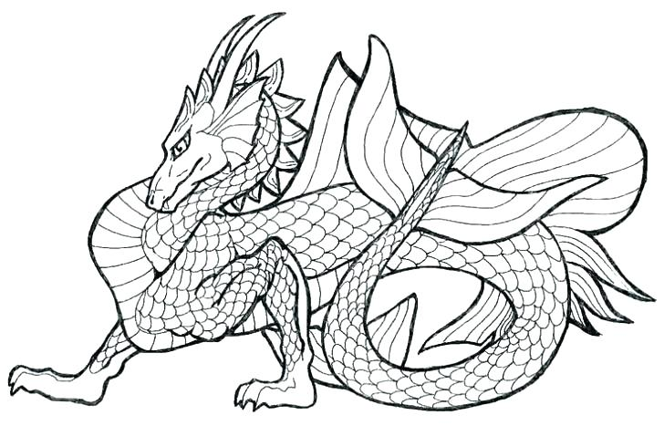 complex dragon coloring pages at getcolorings  free