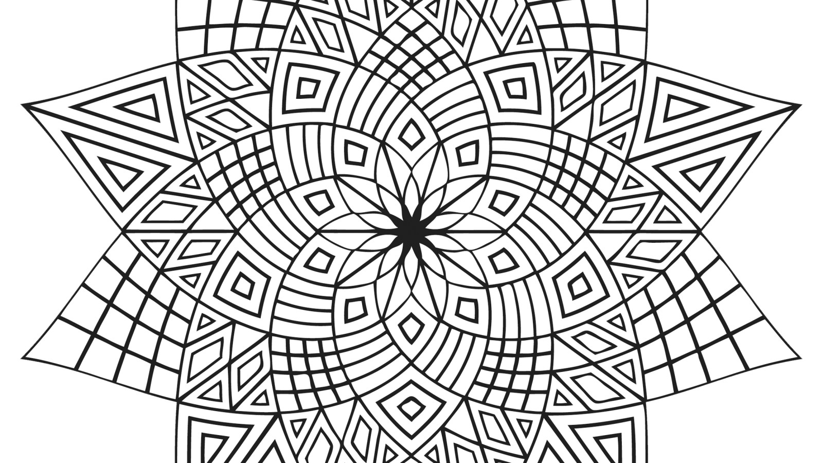 Complex Flower Coloring Pages At Getcolorings