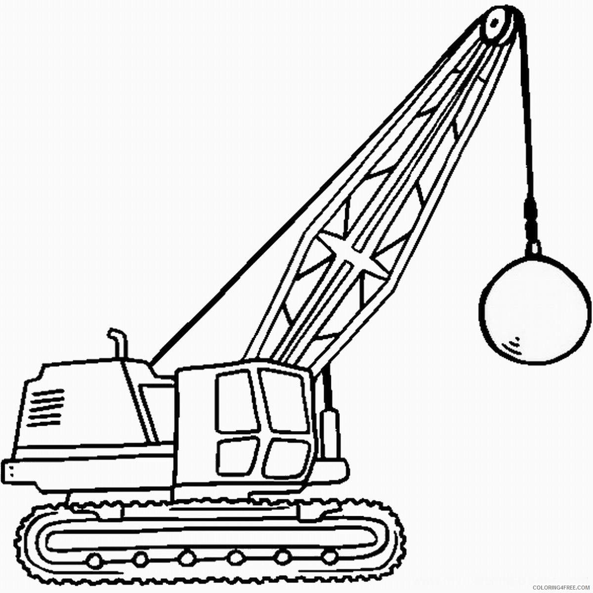 Construction Crane Coloring Page At Getcolorings