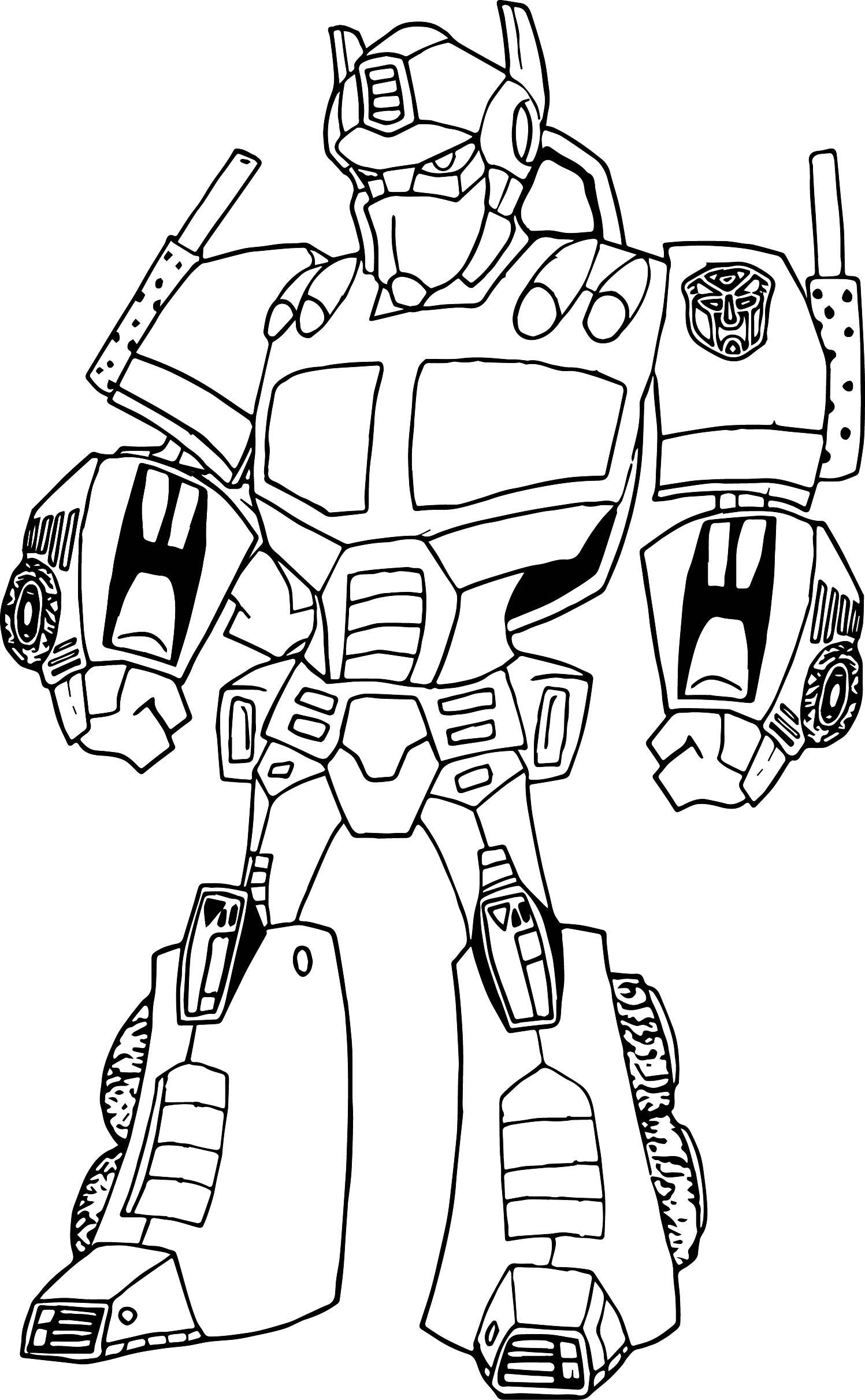 Cool Robot Coloring Pages At Getcolorings