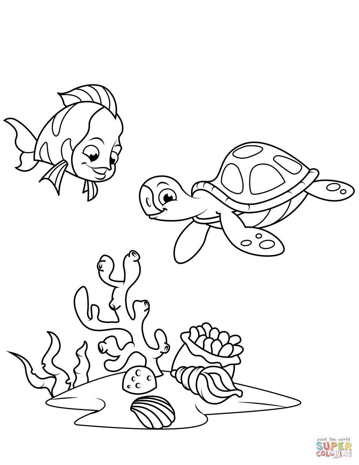 Coral Coloring Pages At Getcolorings