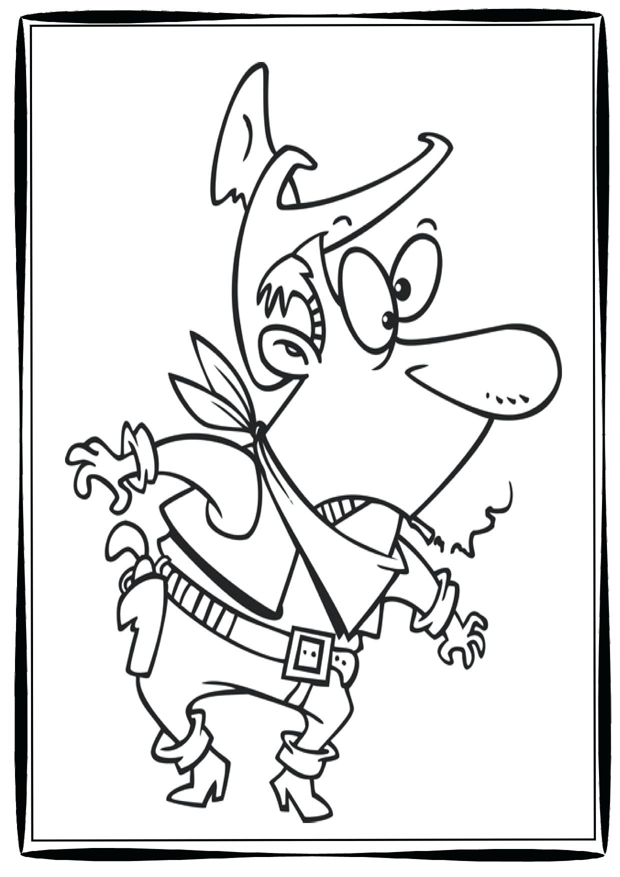 Cowboy Cowgirl Coloring Pages At Getcolorings