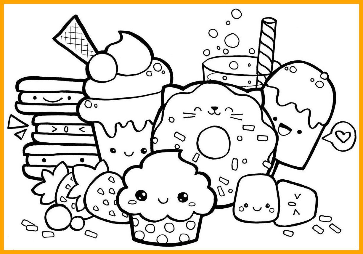 Cute Kawaii Food Coloring Pages At Getcolorings