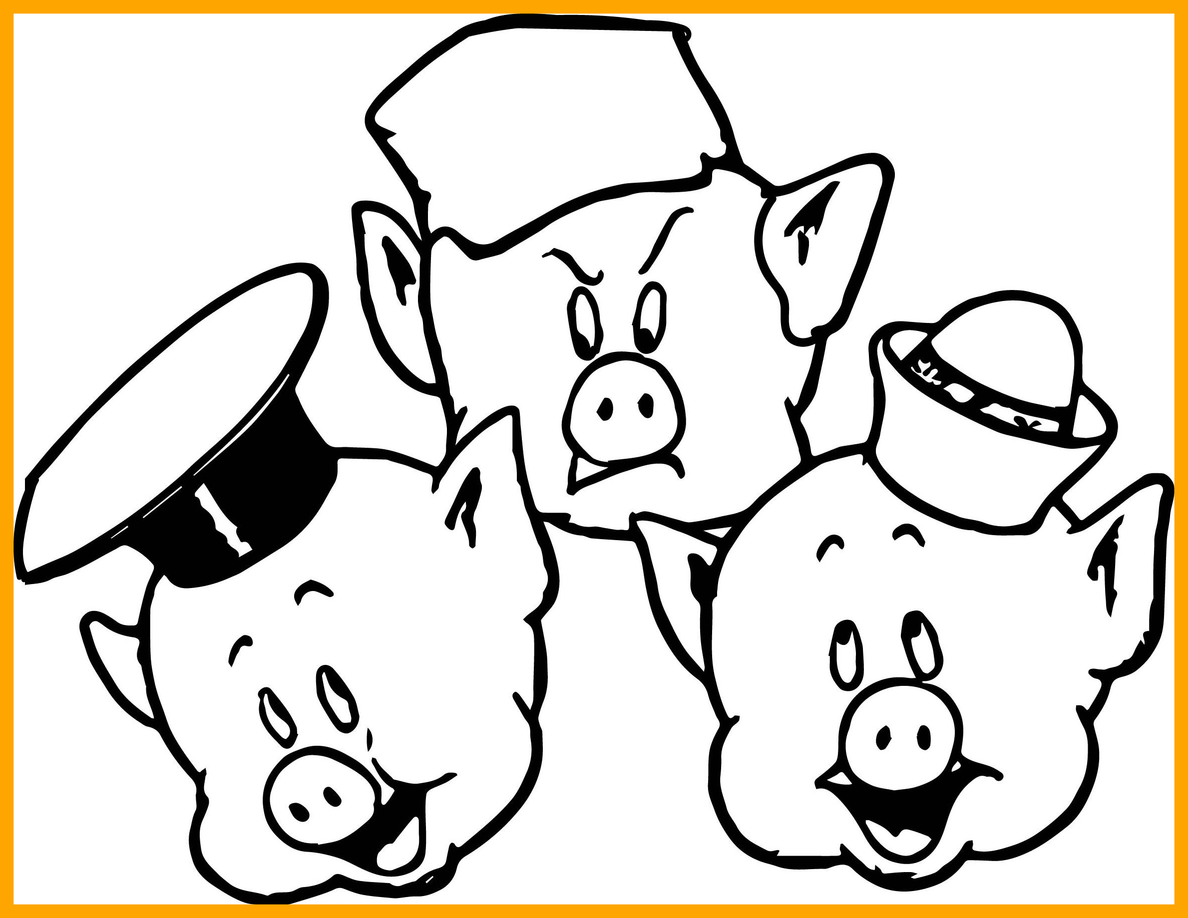 Cute Pig Coloring Pages At Getcolorings