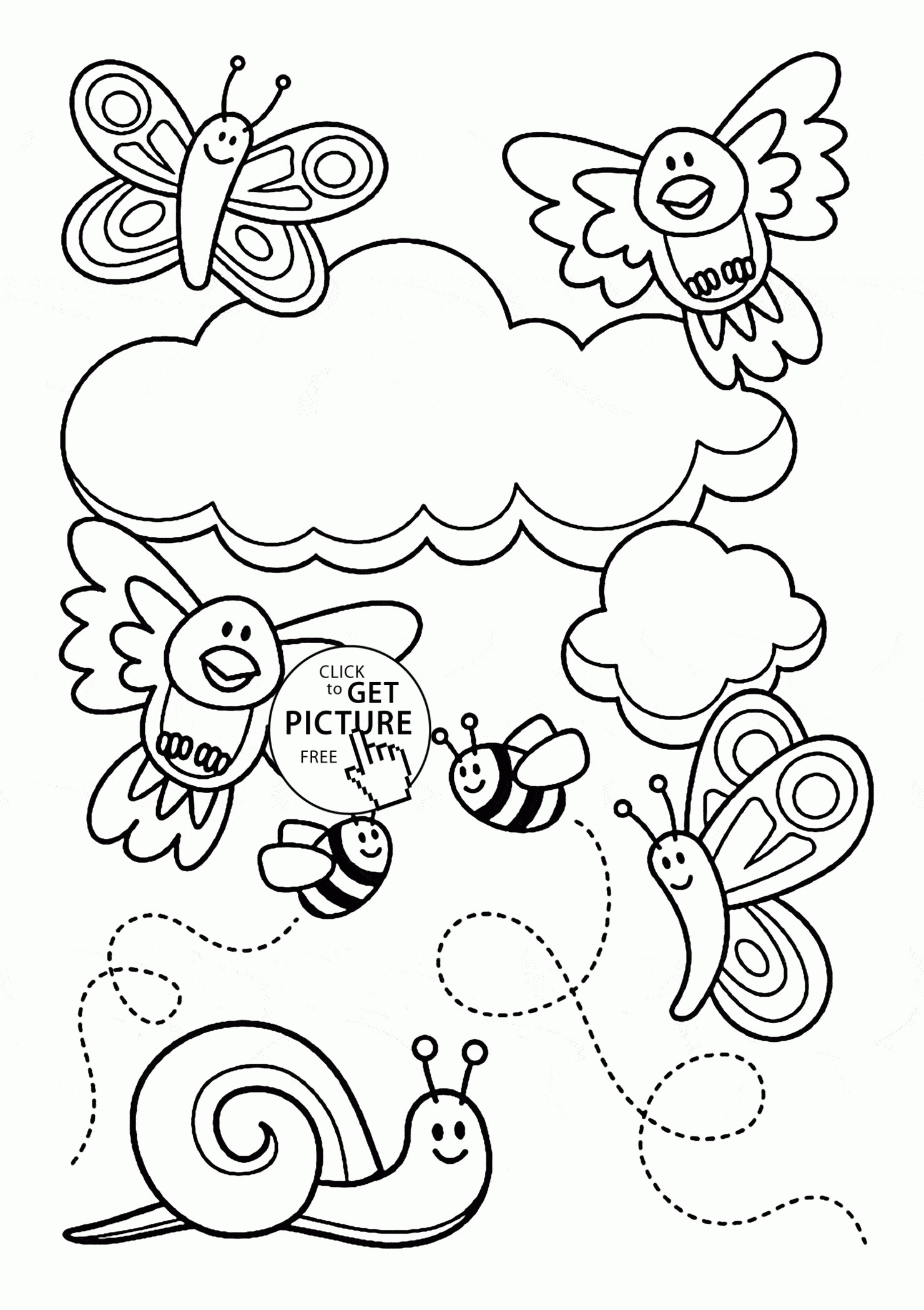Cute Spring Coloring Pages At Getcolorings
