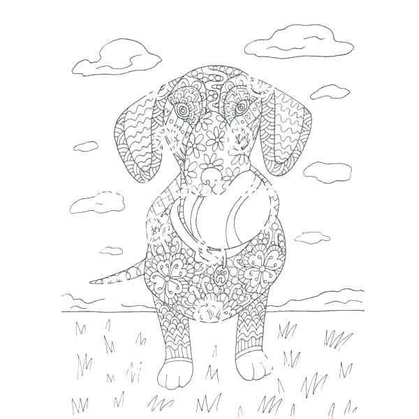 dachshund coloring pages printable at getcolorings