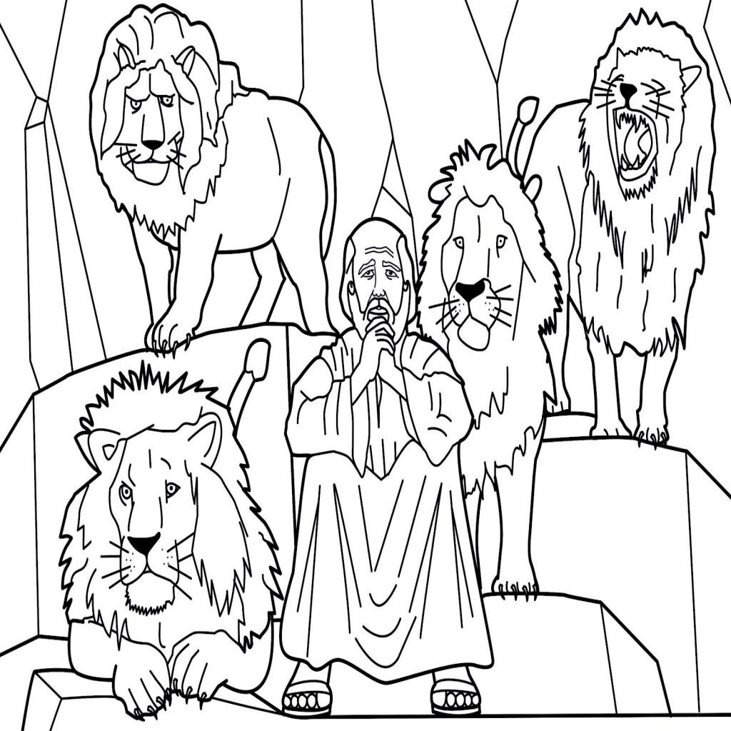 Daniel In The Lions Den Coloring Page At Getcolorings