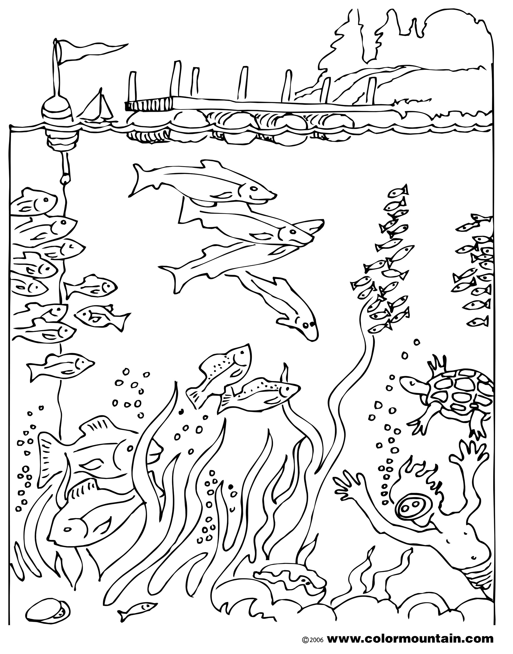 Deep Sea Coloring Pages At Getcolorings