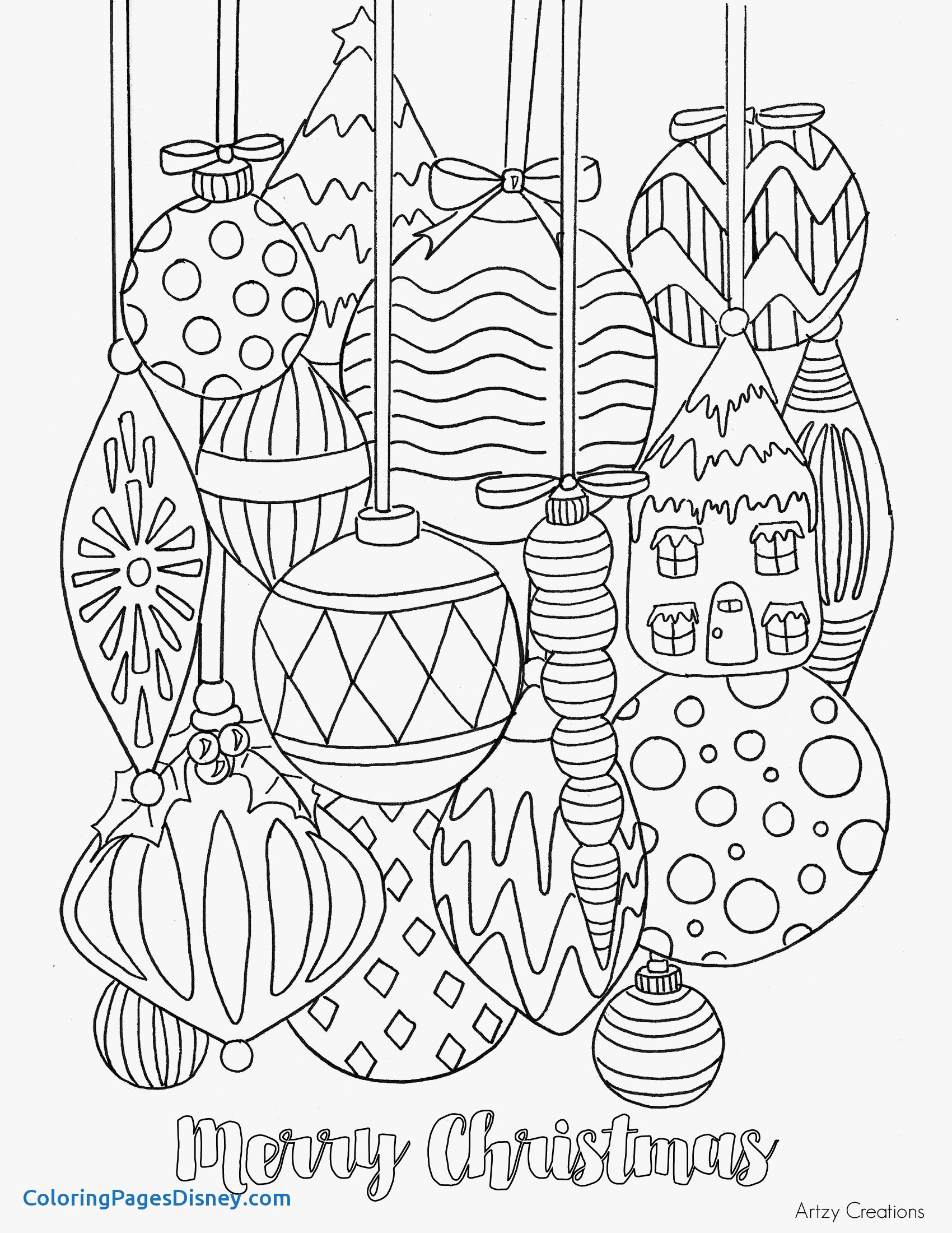 Detailed Christmas Coloring Pages At Getcolorings