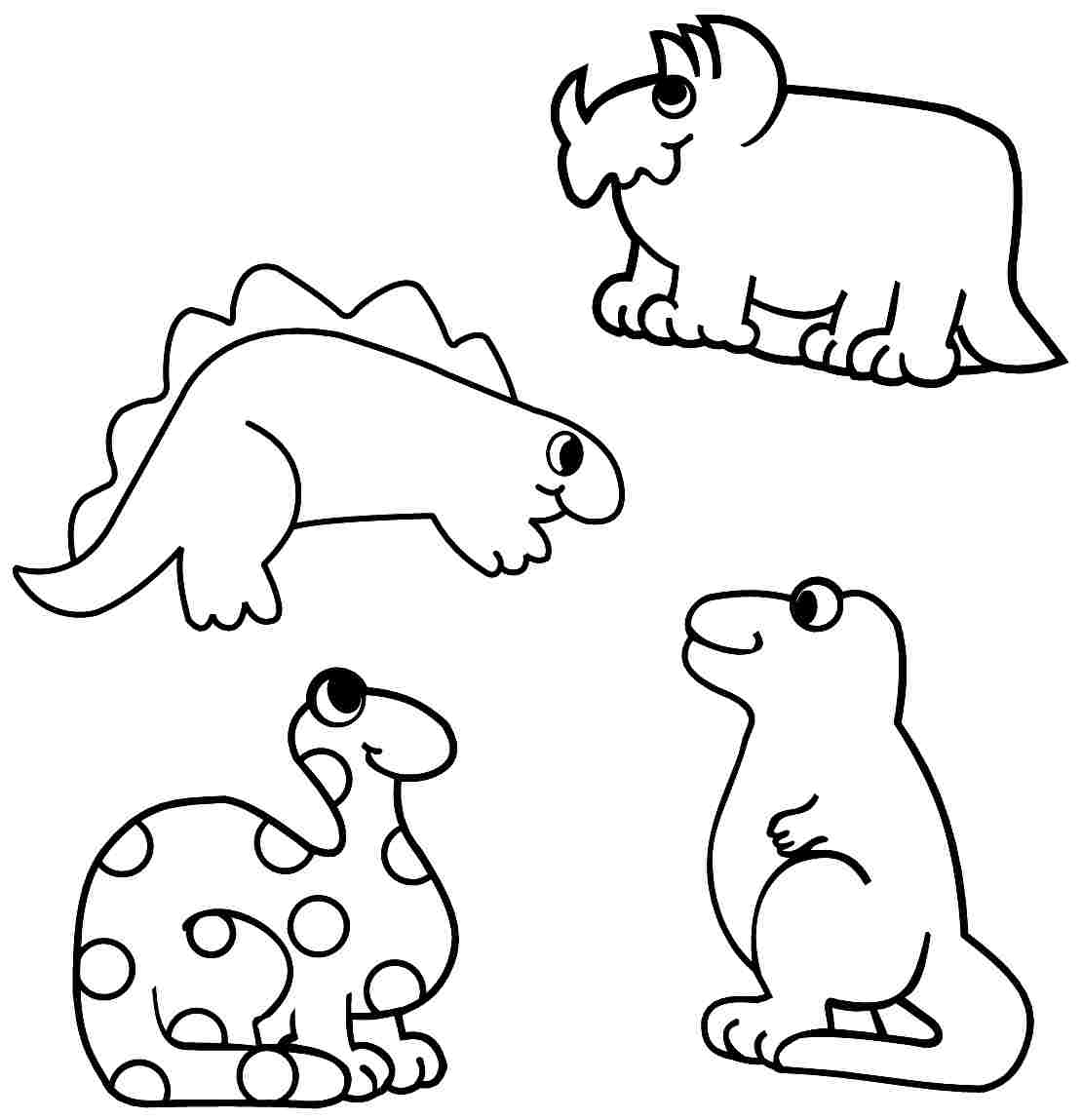 Dinosaur Coloring Pages For Toddlers At Getcolorings