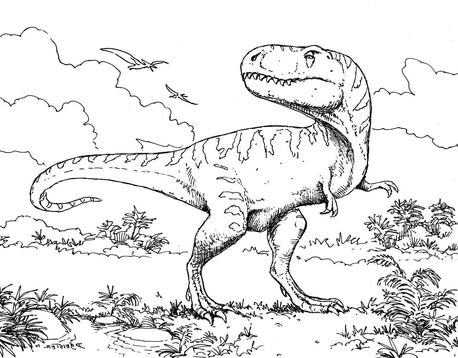 Dinosaurs Coloring Pages T Rex At Getcolorings