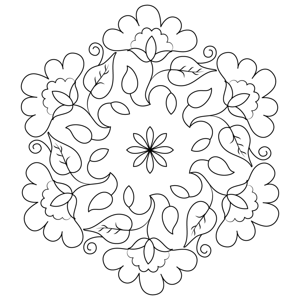 Diwali Rangoli Coloring Pages At Getcolorings