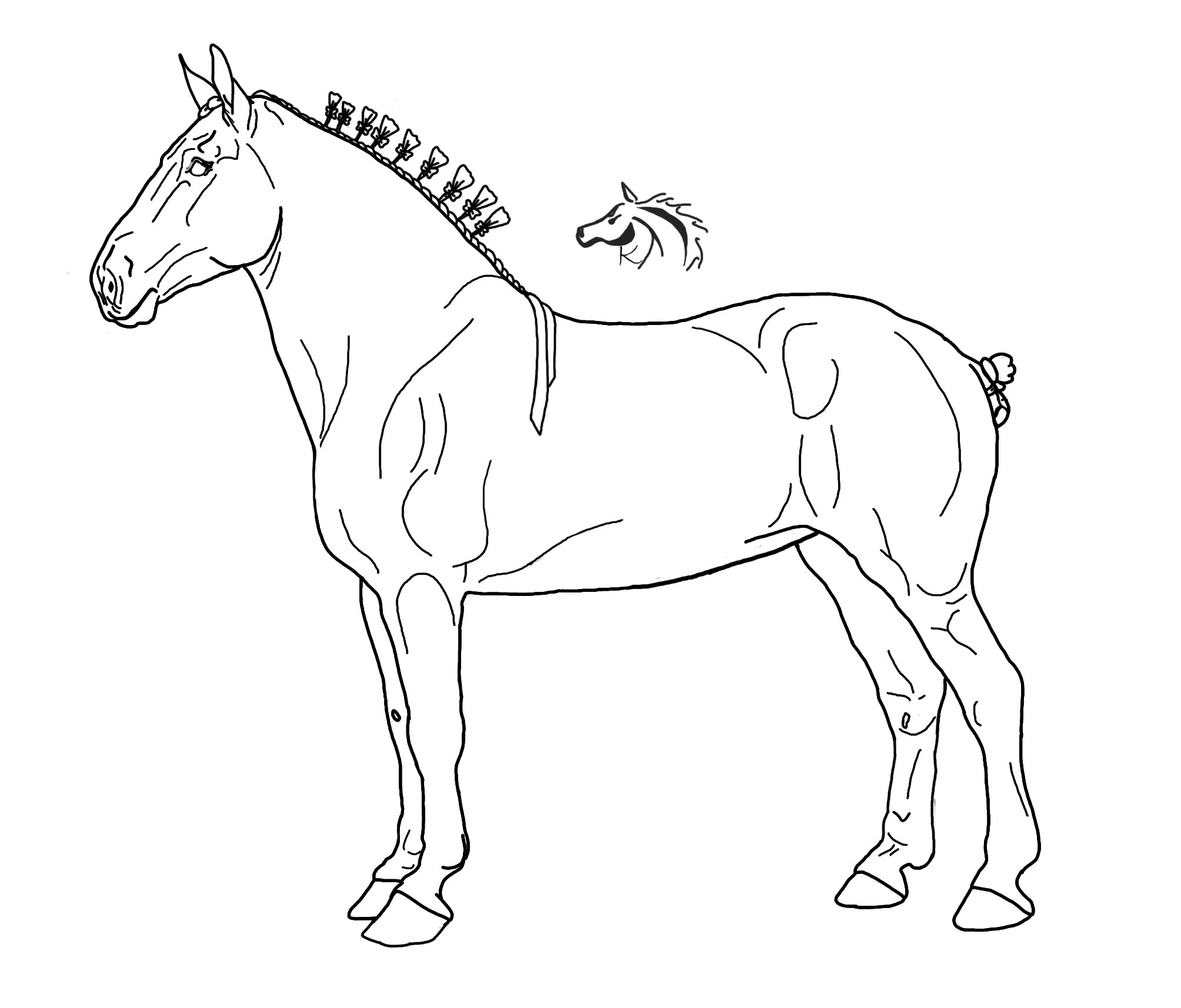 Draft Horse Coloring Pages At Getcolorings