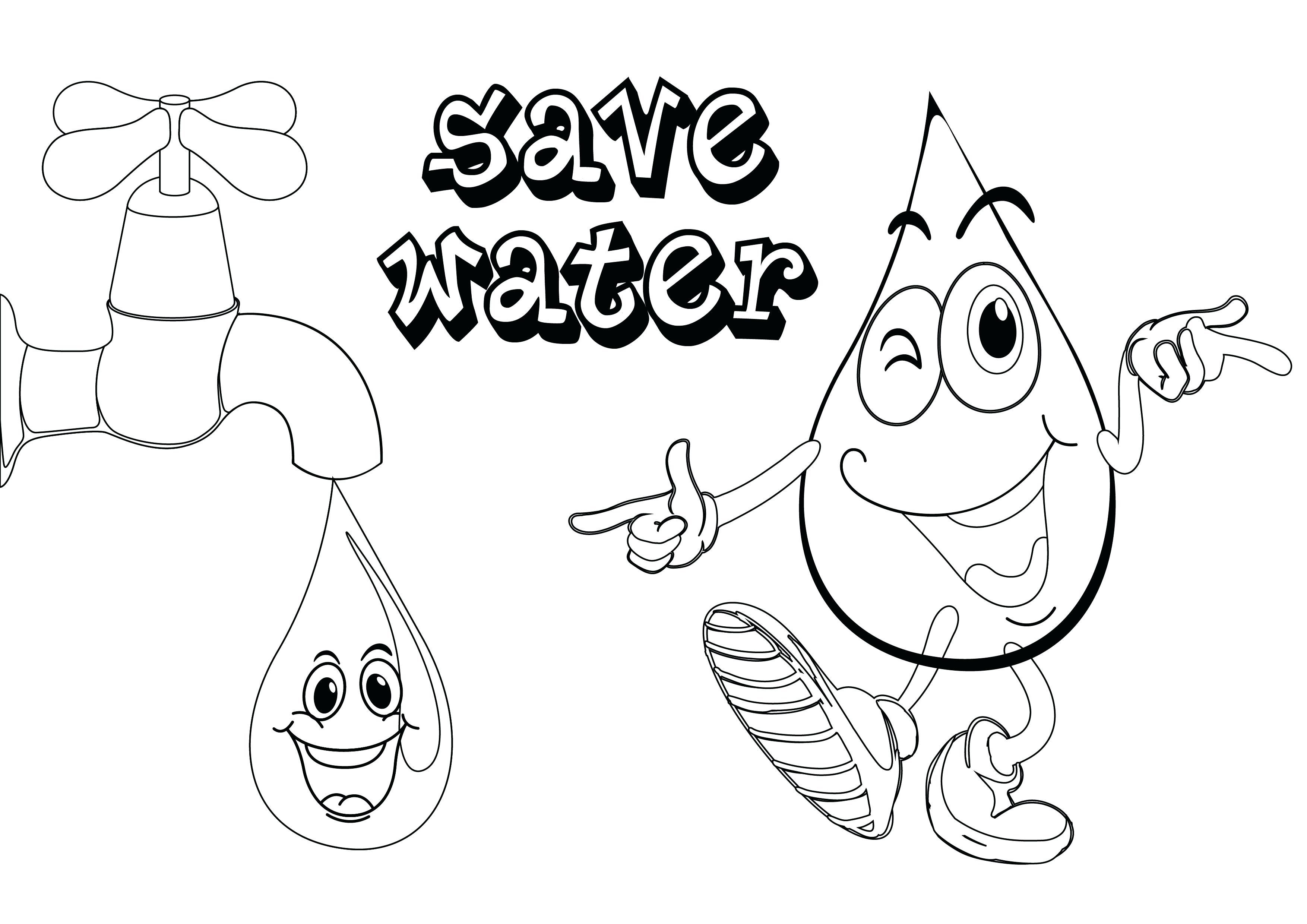 Drinking Water Coloring Pages At Getcolorings