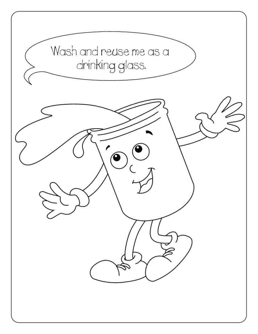 drinking water coloring pages at getcolorings  free