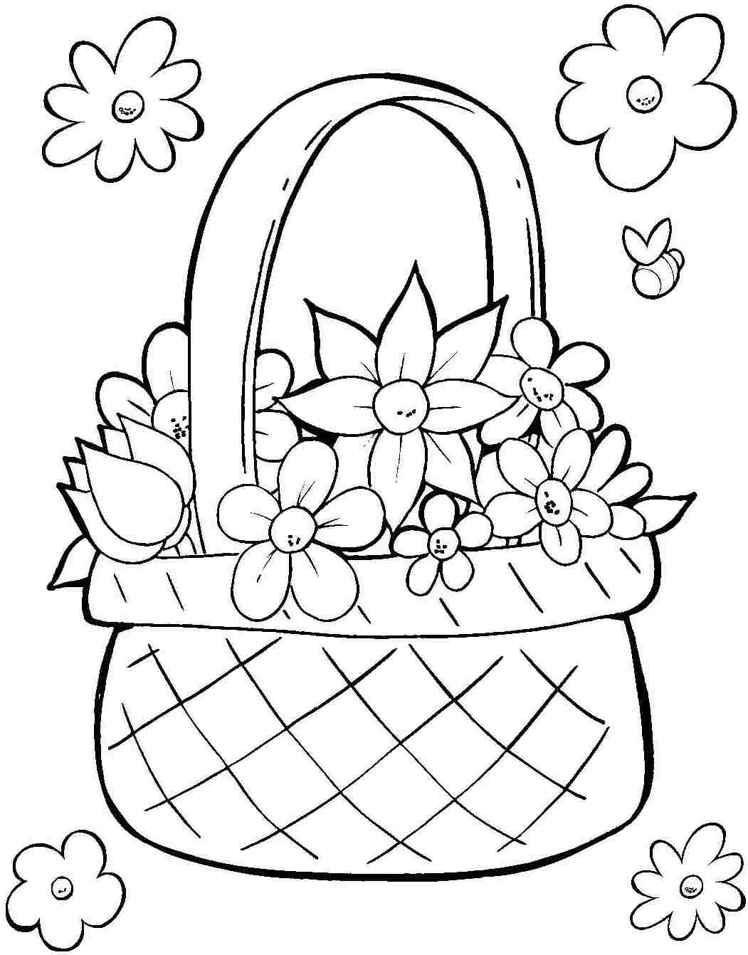Easter Basket Printable Coloring Pages At Getcolorings