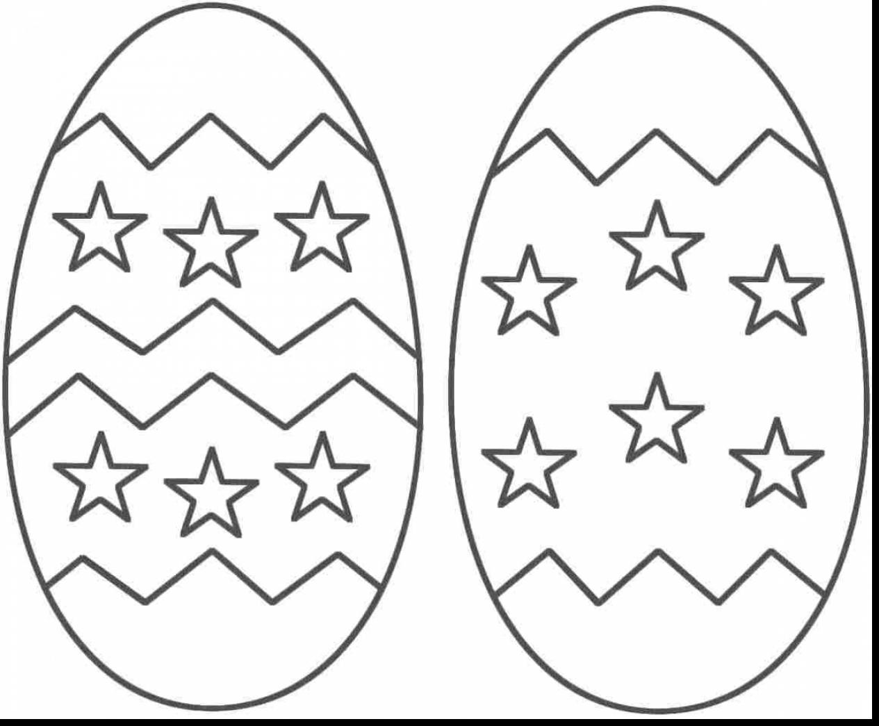 Blank Easter Egg Coloring Pages At Getcolorings