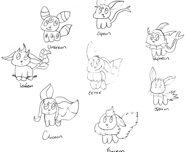 eeveelutions coloring pages at getcolorings  free