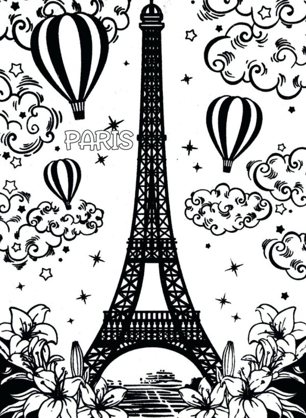 eiffel tower coloring pages # 55