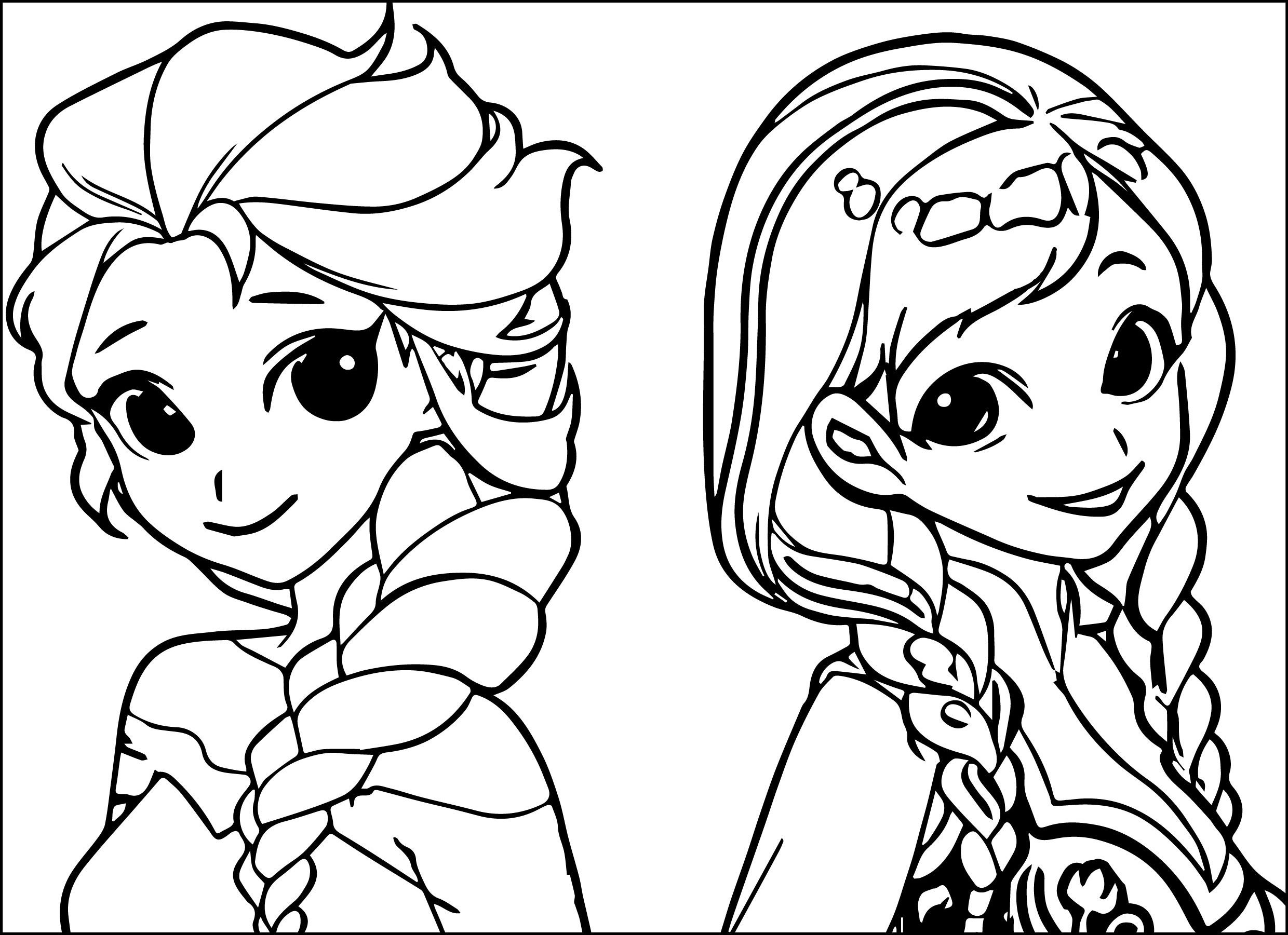 Elsa Anna Coloring Pages At Getcolorings