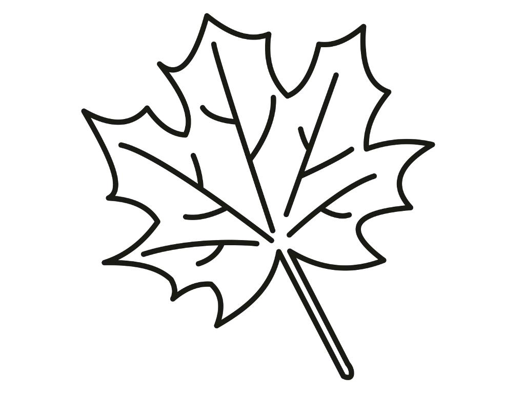 Fall Leaves Clip Art Coloring Pages At Getcolorings