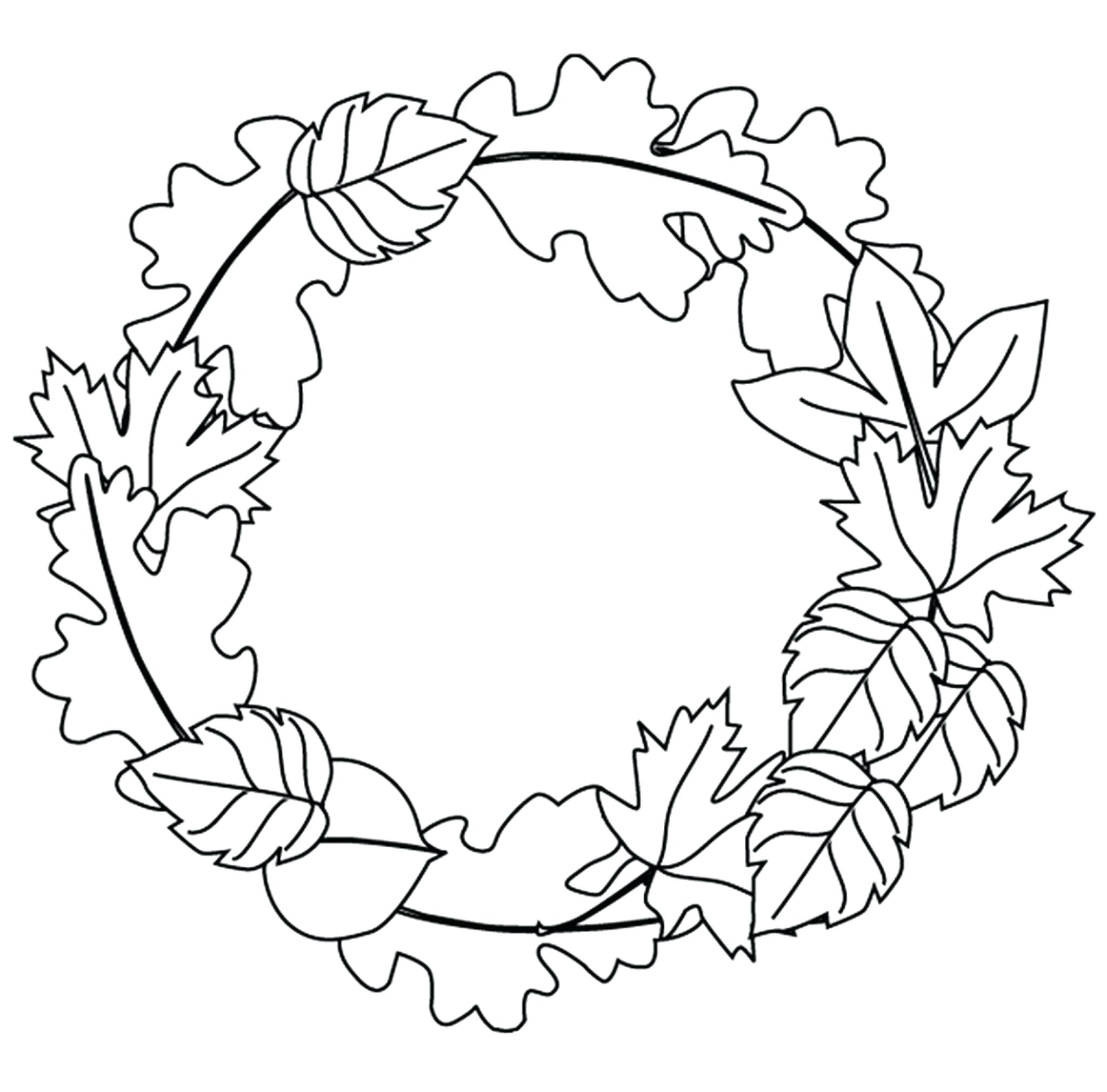 Fall Leaves Coloring Pages For Kindergarten At