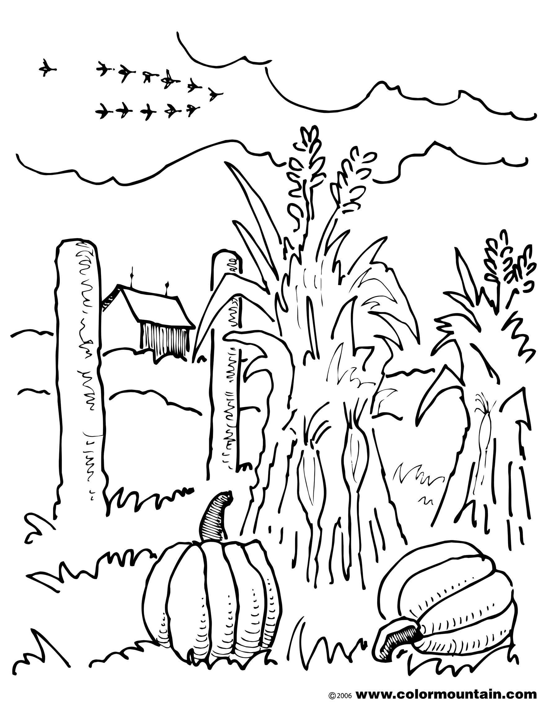 Fall Scenery Coloring Pages At Getcolorings