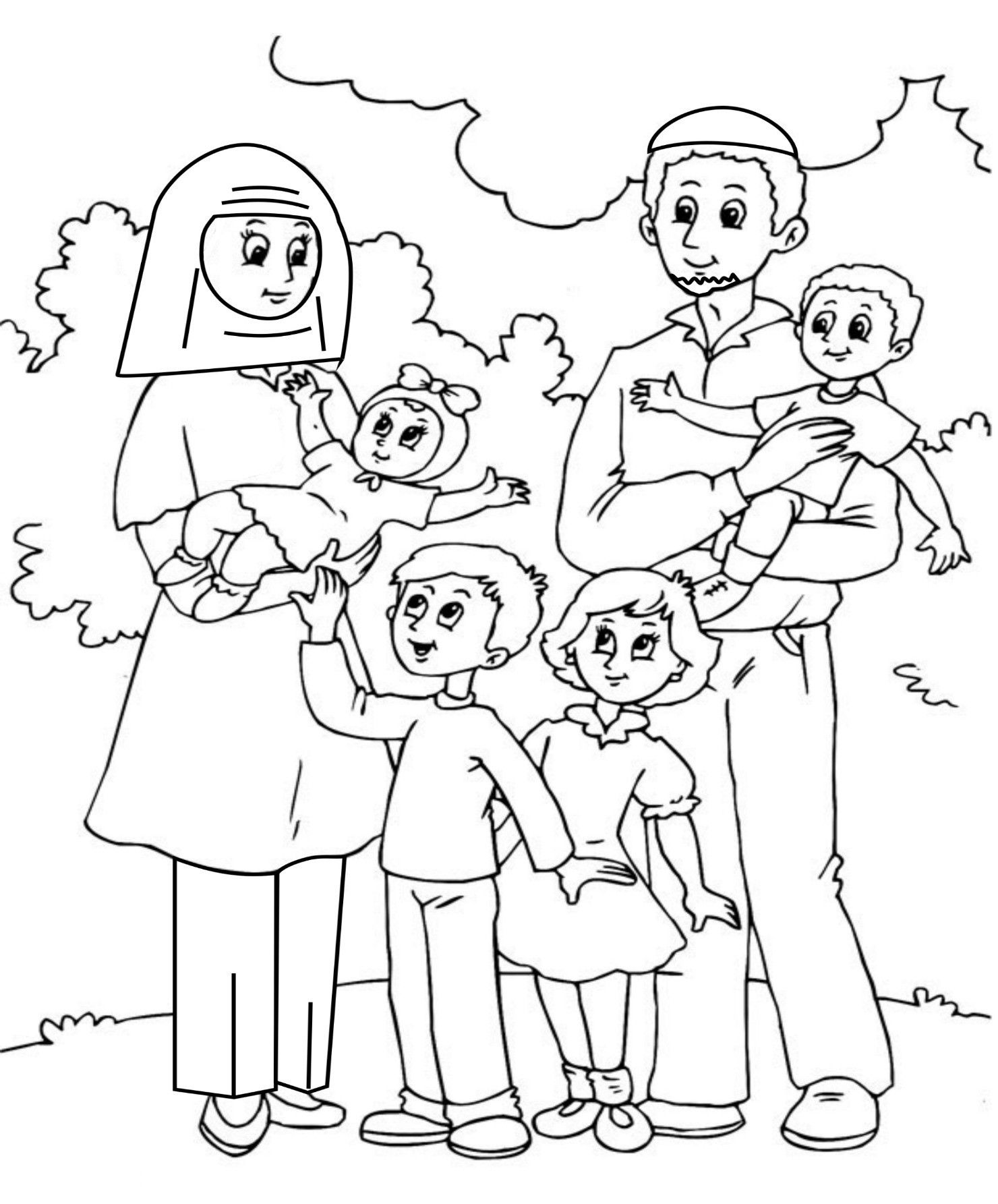 Family And Friends Coloring Pages At Getcolorings