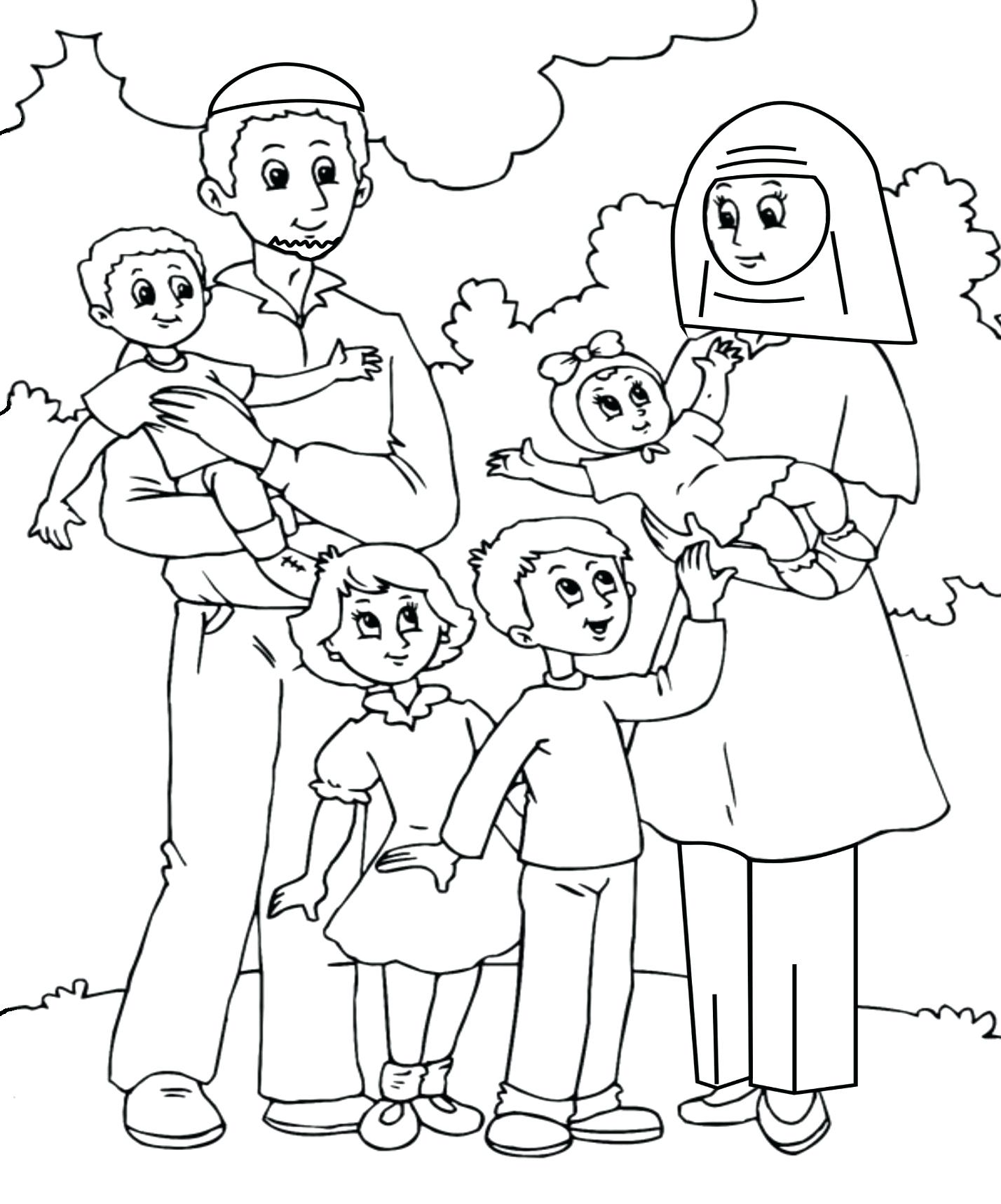 Family Members Coloring Pages At Getcolorings