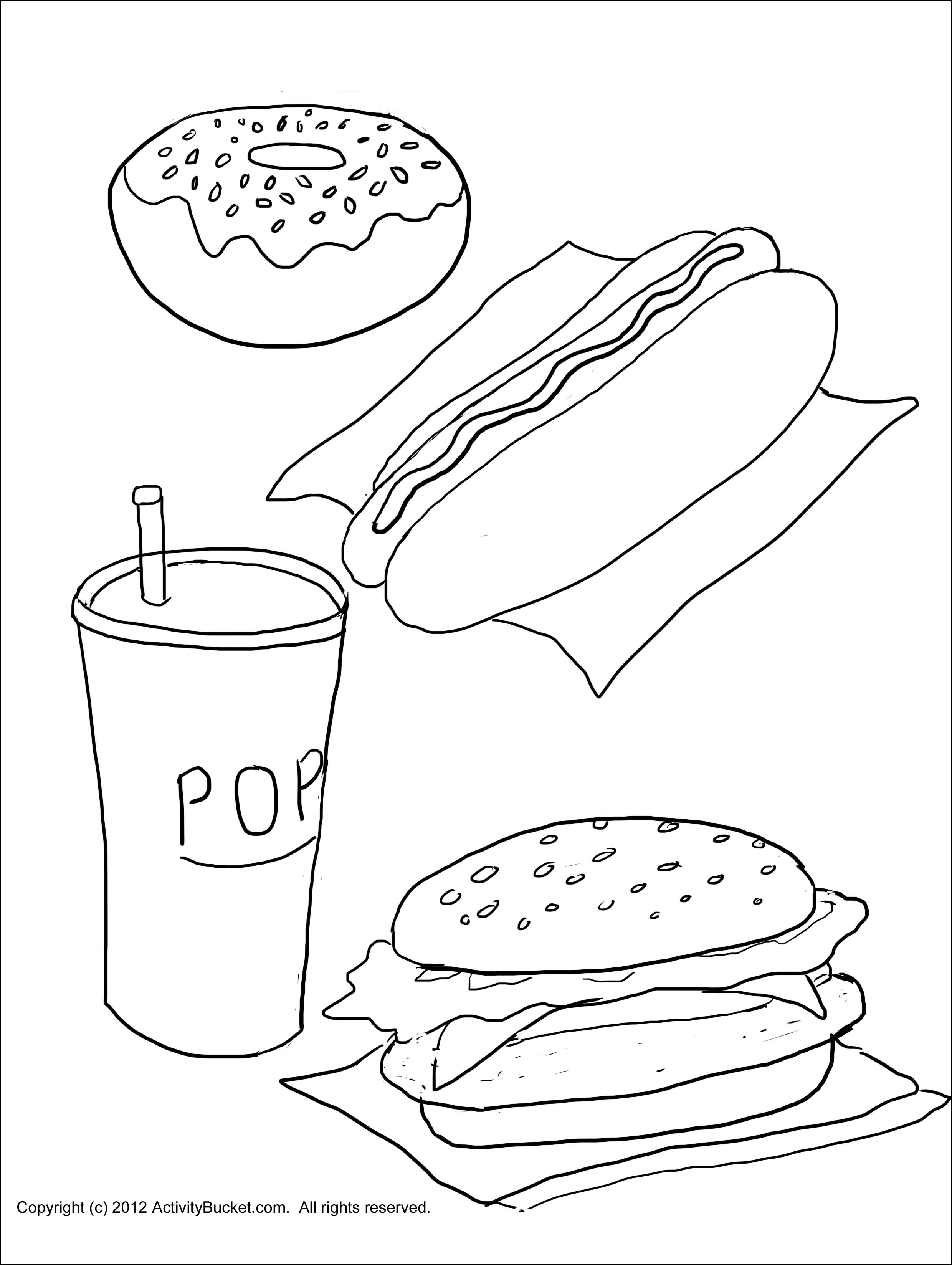 Fast Food Coloring Pages At Getcolorings