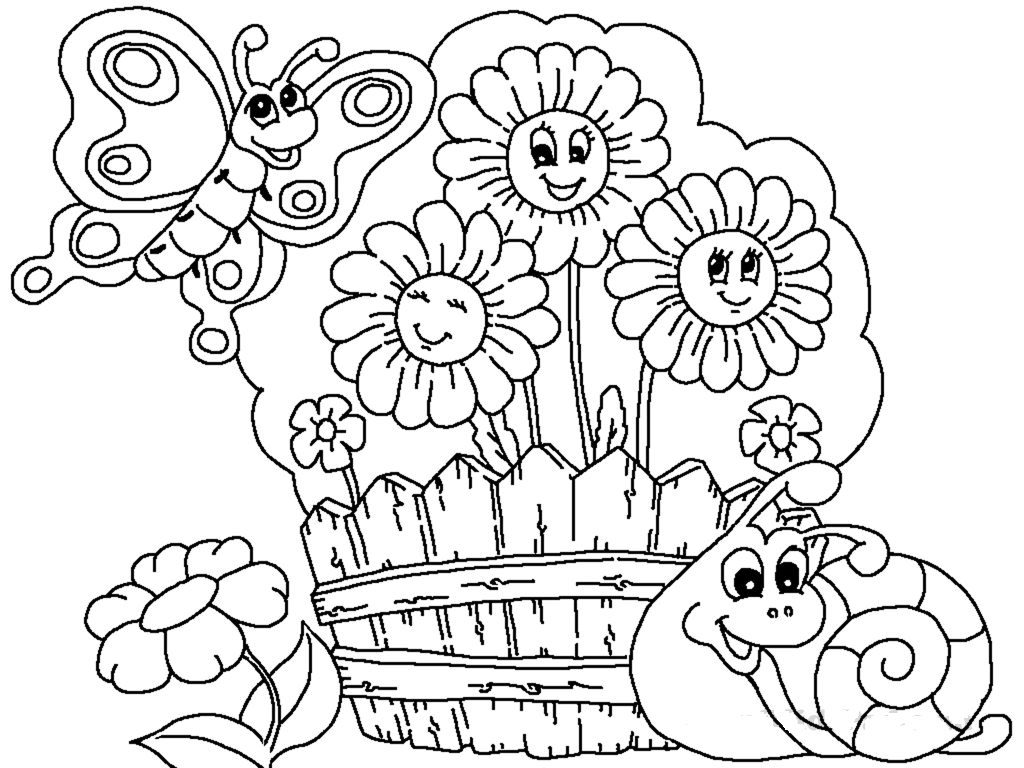Flower Garden Coloring Pages Printable At Getcolorings