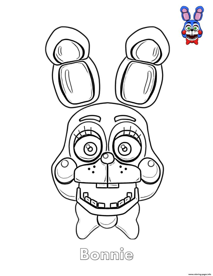 fnaf coloring pages bonnie at getcolorings  free