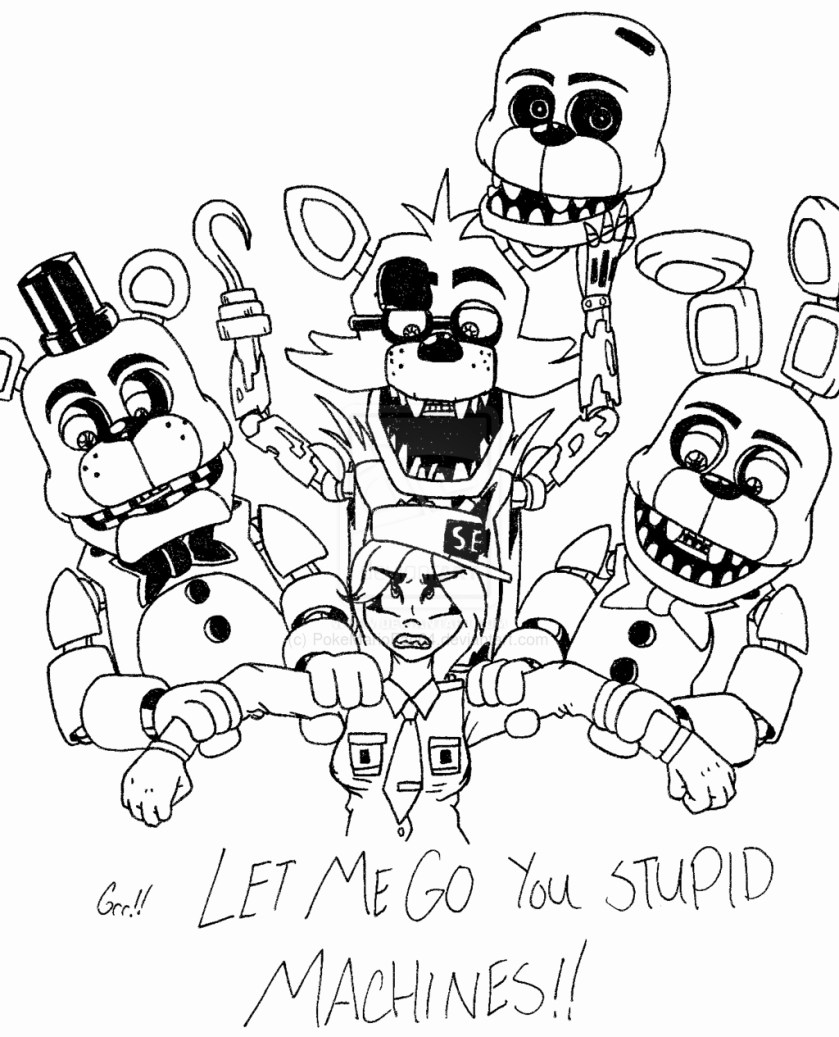 freddy fazbear coloring page at getcolorings  free