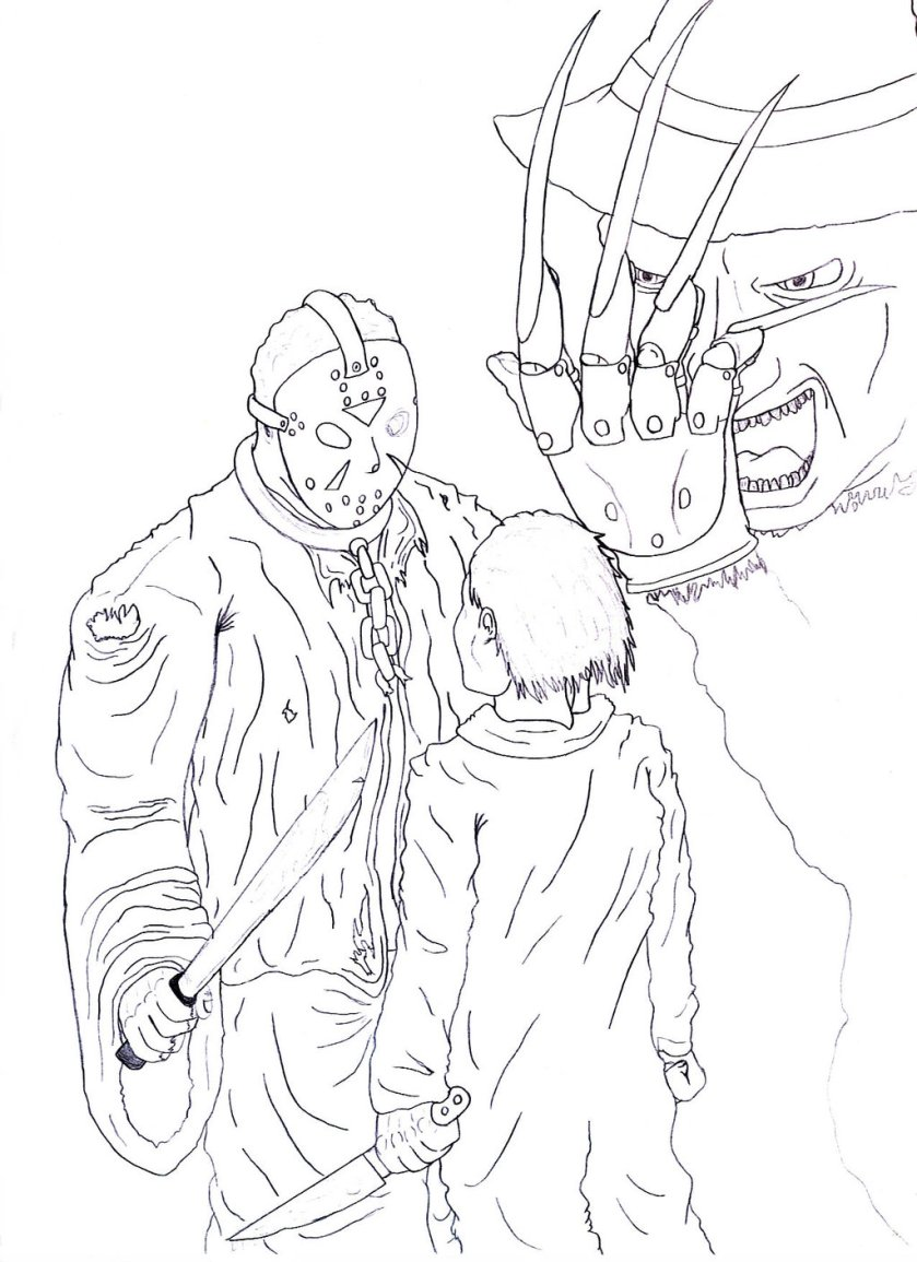 freddy vs jason coloring pages at getcolorings  free