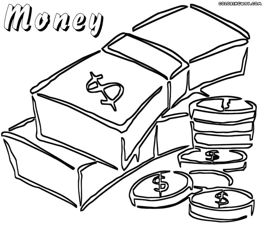 free coloring pages of money at getcolorings  free