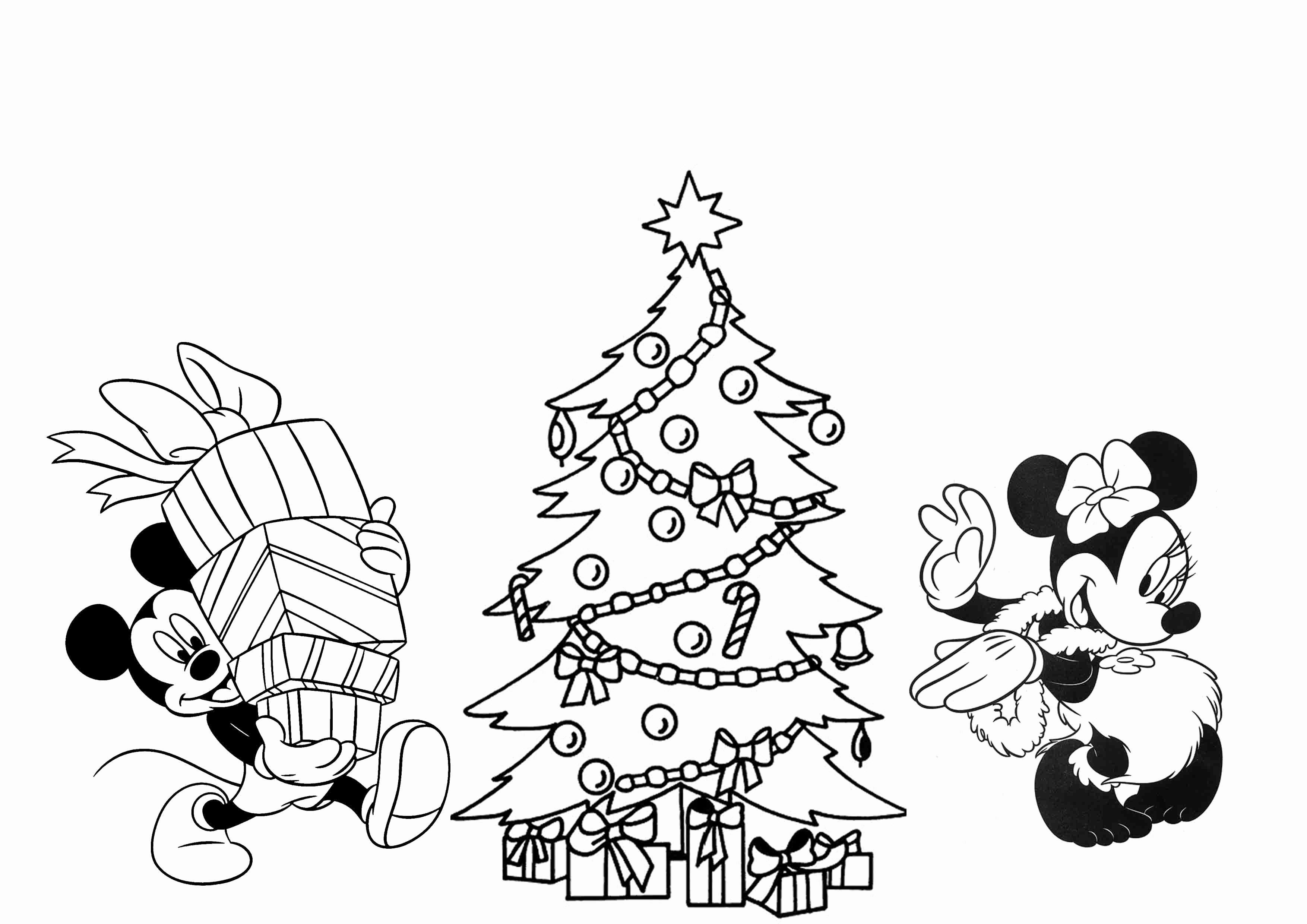 Free Disney Christmas Coloring Pages At Getcolorings