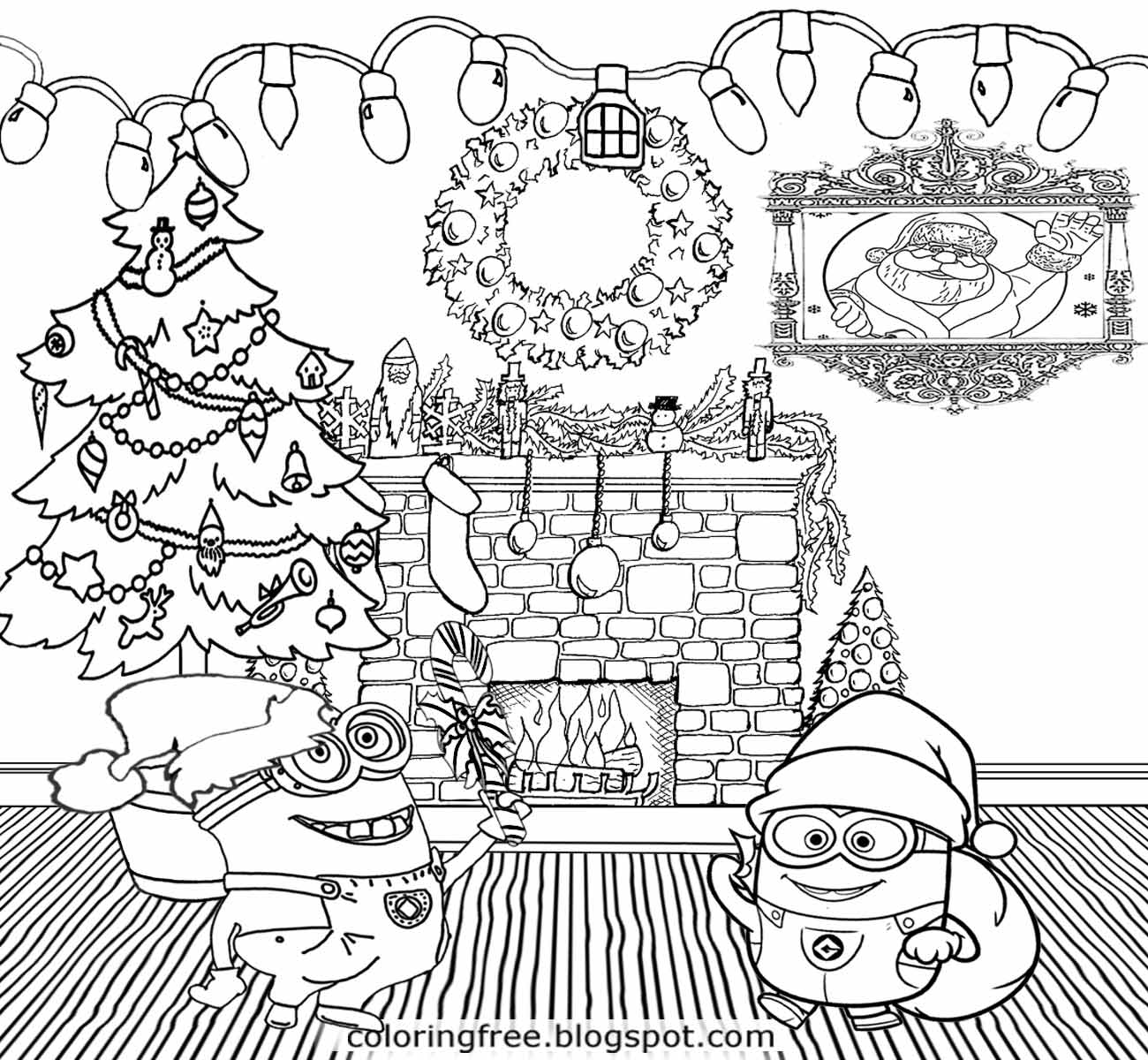 Free Printable Merry Christmas Coloring Pages At
